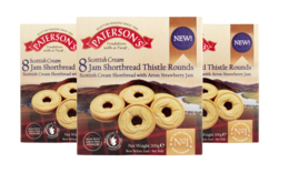 Scottish Cream Jam Shortbread Thistle Rounds